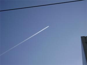 Os aviões deixam esse rastro lá